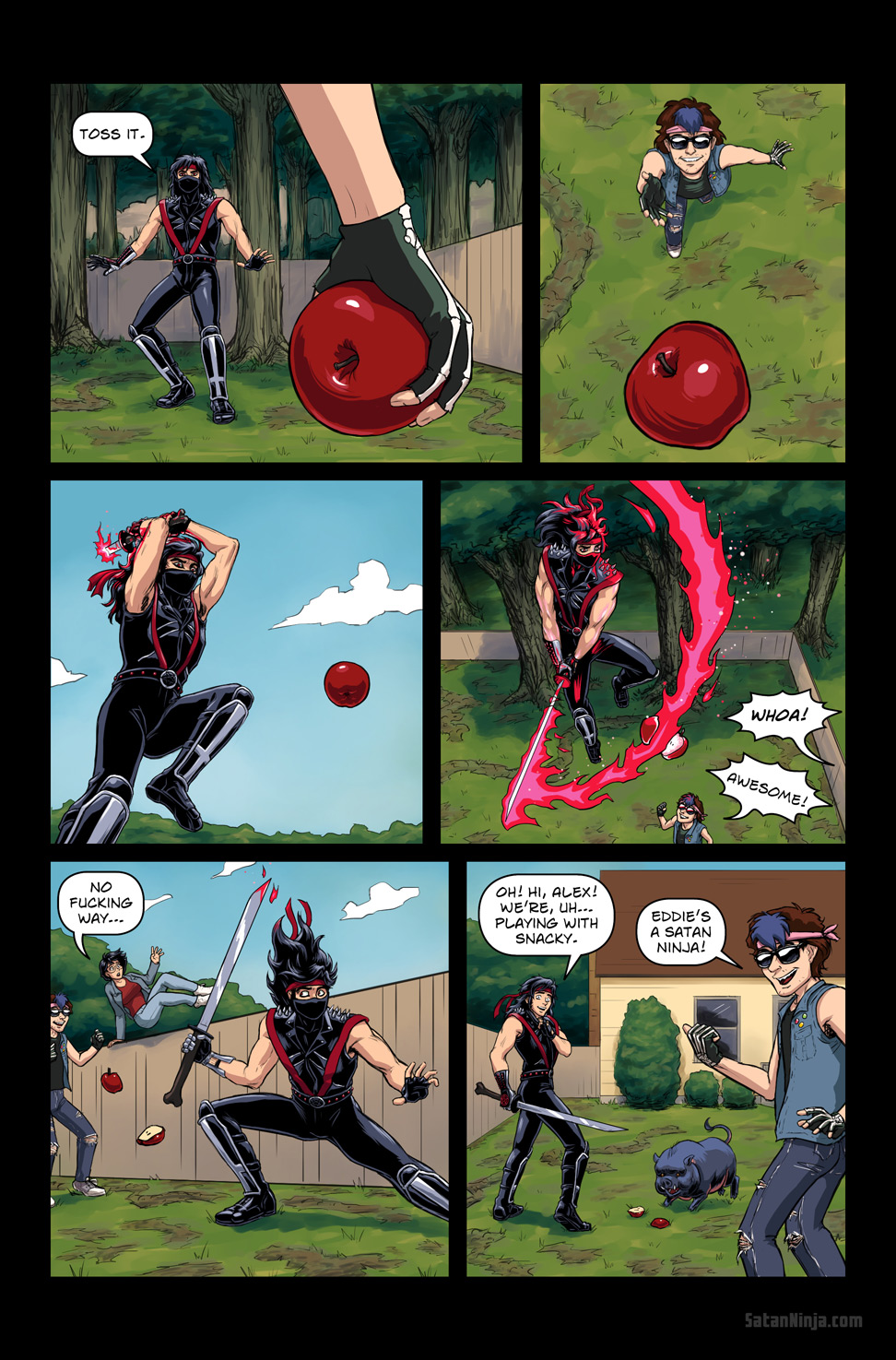 Issue 3, Page 4 - Playing with Snacky