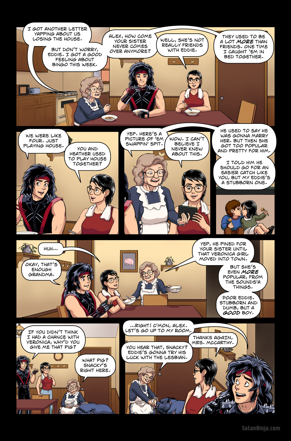 Issue 3, Page 15 - Dinner With Grandma